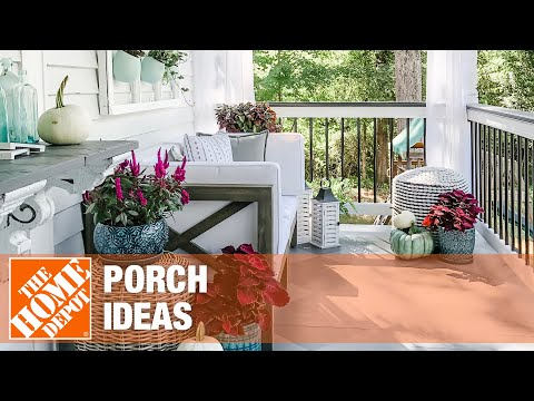 Get new porch ideas from the Home Depot.