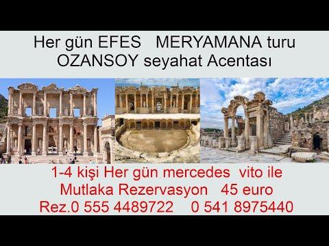 izmir efes meryemana turu mercedes vito vip ile 150 euro 6 kişi