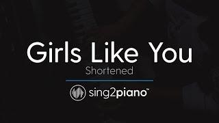 Girls Like You (Piano Karaoke Instrumental) Maroon 5