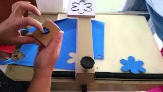 Como utilizar a maquina de corte e facas para eva DIY