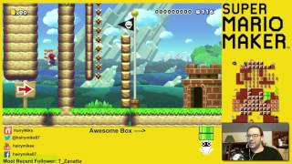 Super Mario Maker Wall Jumping with Spring!