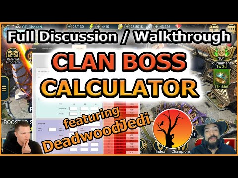 RAID Shadow Legends | CLAN BOSS CALCULATOR | FULL DISCUSSION / WALKTHROUGH!