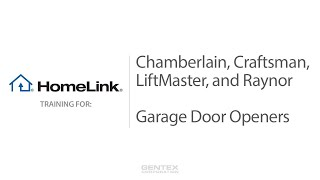 HomeLink Training for Chamberlain Garage Door openers video poster