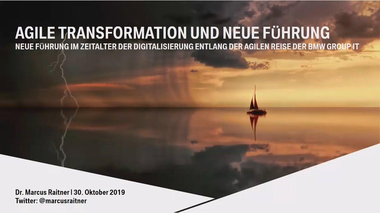 agile transformation Dr. Marcus Raitner am Cubeware Kundentag 2019
