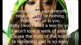 Irreplaceable lyrics - beyonce