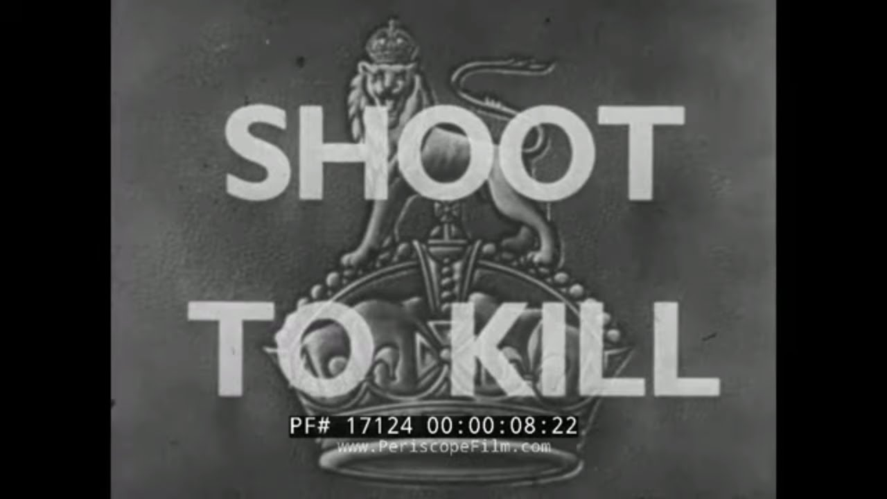 """Shoot to Kill"" World War 2 British Army Infantry Weapons Training Film – Bren Gun"