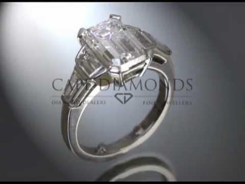 Complex stone ring,white emerald diamond,engagement ring