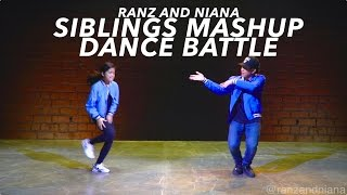 Siblings Mashup Dance Battle (Bruno Mars - That's What I Like Mix) | Ranz and Niana