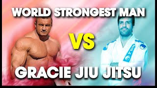 World's Strongest Man vs. Rolles Gracie (4th Degree BJJ Blackbelt) | Lawrence Kenshin