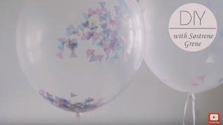 DIY: Confetti Balloons by Søstrene Grene