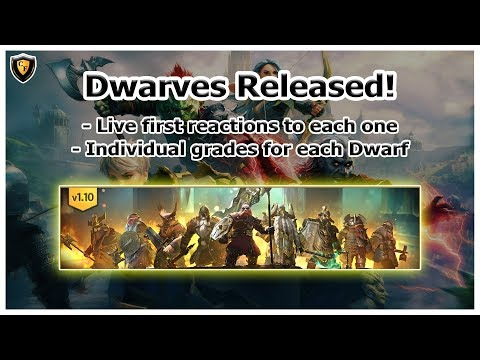 RAID Shadow Legends | Dwarves Released! | Live First Reaction / Grades