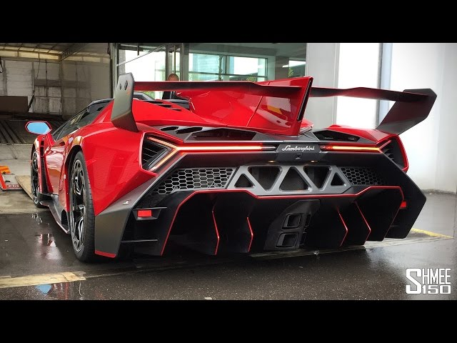 $4.5m Lamborghini Veneno Roadster - Startup and Loading to Truck