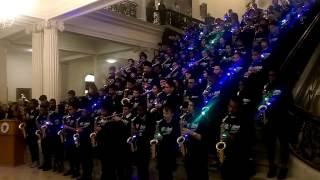 Springfield Sci-Tech High School Band performing at the 2017 Commonwealth Awards. 3