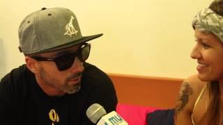 Dengaz em entrevista ao Mundo Universitário no Sumol Summer Fest
