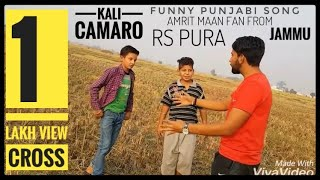 AMRIT MAAN FAN JAMMU) Kali Camaro 3 / Funny cover song by jassi/ A ROHIT SINGH KALGOTRA FILMS