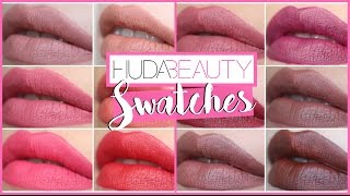 ♡ SWATCHES Liquid Matte HUDA BEAUTY