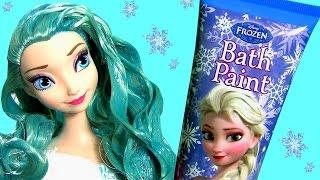 Como Pintar o Cabelo da Princesa Elsa com Tinta Azul no Salão de Beleza da Barbie Video em Portugues