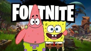 Fortnite battle royale portrayed by Spongebob 2