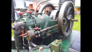 Starting a 10 hp hot bulb Victoria engine.