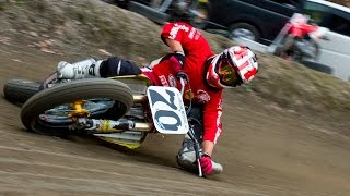 Japanese FLAT TRACK Rider Masa Ohmori #70 Motorcycle Limbo / Superprestigio Dirt Track 出場の大森雅俊