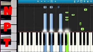 Zedd ft. Jon Bellion - Beautiful Now Piano Tutorial - How to play Beautiful Now on piano - Synthesia