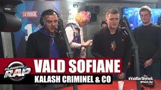 Vald, Sofiane, Kalash Criminel, Biffty et Suik'on Blaze AD en live dans Planète Rap