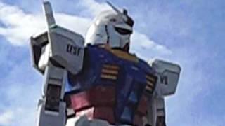 Real Gundam with actual Gundam sounds in Odaiba Tokyo ガンダム サウンド付き お台場
