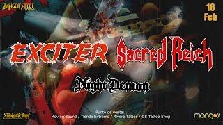 Exciter / Sacred Reich + Night Demon en Lima