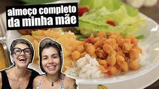 ALMOÇO COMPLETO RÁPIDO | COZINHANDO COM MINHA MÃE | TNM Vegg