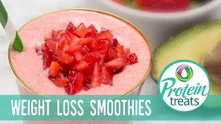 Healthy Strawberry Smoothie Avocado Recipe (Sugar-Free & Gluten-Free) Protein Treats by Nutracelle