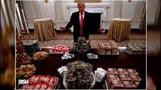 TRUMP SERVES THE CLEMSON TIGERS AMERICA'S FINEST... FAST FOOD?!