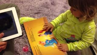 Isabell contando Historias da Biblia. Com trilla sonora e t