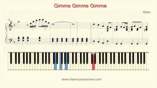 """How To Play Piano: Abba """"Gimme Gimme Gimme"""" Piano Tutorial by Ramin Yousefi"""