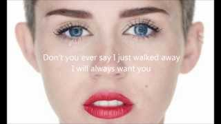 Miley Cyrus - Wrecking Ball letra en ingles
