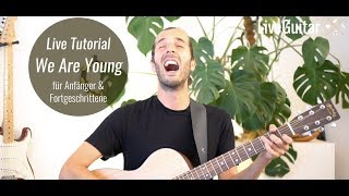 Fun - We Are Young - Tutorial Akustik Gitarre Anfänger (Teaser LiveGuitar.de)