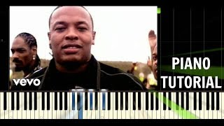 Dr. Dre - Still D.R.E. ft. Snoop Dogg - Piano EASY Tutorial - Synthesia
