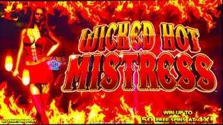 Wicked Hot Mistress Slot Machine Video Bonus Win Live Play!
