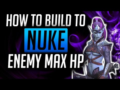 RAID: Shadow Legends | How to build a nuke champ - Enemy Max HP builds! Coldheart, Royal Guard, Seer