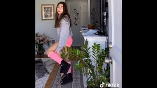 both legs broken? she had surgery on both feet - now in  two pink casts (tiktok)