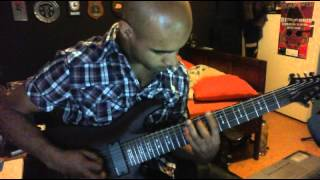 Recording test for My Schecter Omen 8 String
