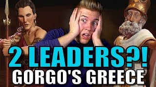 TWO LEADERS?! Civilization 6: Gameplay - Gorgo's Greece [Leader Strategy Breakdown]