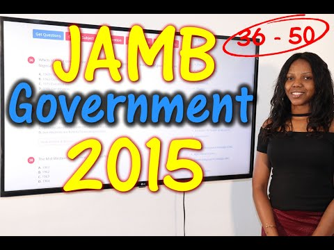 JAMB CBT Government 2015 Past Questions 36 - 50