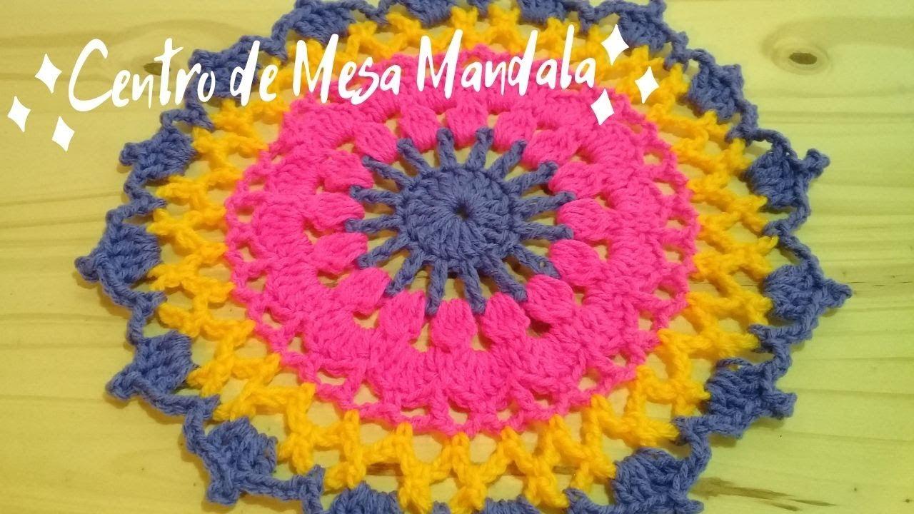 Tejé Centro de Mesa Mandala a Crochet – Paso a Paso