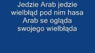 Weselne przyśpiewki - jedzie Arab jedzie + tekst