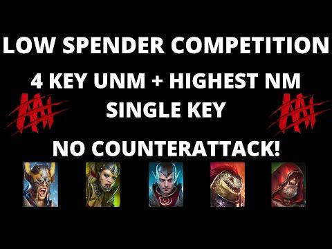 No CA Low Spender/F2p UNM TEAM Challenge I Raid Shadow Legends