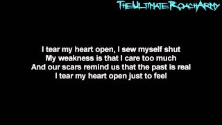 Papa Roach - Scars {Lyrics on screen} HD