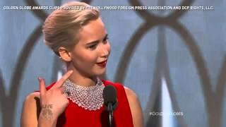 Jennifer Lawrence em seu discurso de agradecimento no Globo de Ouro 2016 [LEGENDADO]