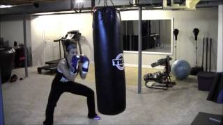 IN HOME BOXING WORKOUT, HEAVY BAG DRILLS FOR WEIGHT LOSS