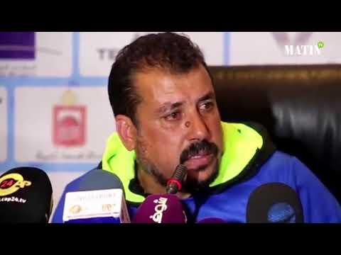 Champion du Maroc avec l'IR Tanger, Driss Lamrabet fond en larmes en conférence d'après-match