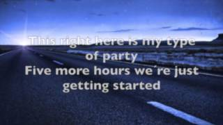 Five more hours by Chris Brown Lyrics Video